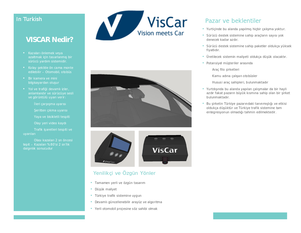 Introduction of VisCar in short - In Turkish